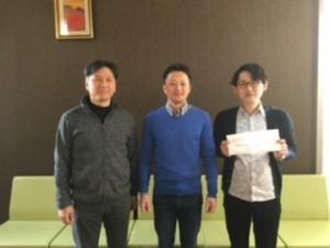 右より:佐々木宏幸(当院理学療法士)          田中 創氏 (九州医療スポーツ専門学校副院長:今回講師)          私